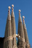Barcelona: La Sagrada Familia cathedral by Gaudi Royalty Free Stock Image