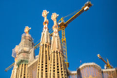 BARCELONA -La Sagrada Familia - the impressive cathedral designed by Gaudi Royalty Free Stock Photography