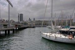 Barcelona - la visión desde considera Imágenes de archivo libres de regalías