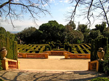 Barcelona,Laberint d'Horta 20. The Parc del Laberint d'Horta (Horta Labyrinth Park) in the Horta neighborhood of Barcelona, Spain Stock Photo