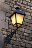 barcelona lampgata Royaltyfri Bild