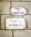 Barcelona landmark Stock Photography