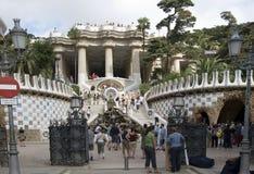 Barcelona landmark - Park Guel Stock Photo