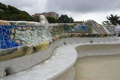 Barcelona landmark - Park Guel Royalty Free Stock Photography
