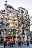 Barcelona landmark in Spain. Building Casa Batllo, Gaudi Royalty Free Stock Images