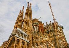 Barcelona landmark in Spain. Sagrada Familia Church, Gaudi. Stock Photo