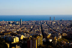 Barcelona landscape fom viewpoint Stock Photography