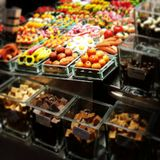 Barcelona. Larambla street market sweets Stock Image