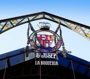 Barcelona-Las Ramblas-La Boqueria-Markt Stockfotos