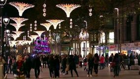 Barcelona latarni ulicznych Bożenarodzeniowe dekoracje zbiory
