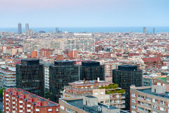 Barcelona in late blue evening Stock Photography
