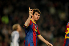 barcelona leo messi Royaltyfria Foton