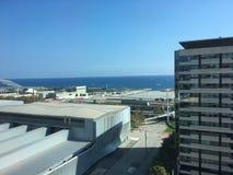 Barcelona linii horyzontu nadbrzeża 22@ dzielnica biznesu obrazy royalty free
