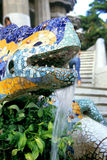 Barcelona Lizard Fountain Stock Images