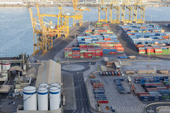 Barcelona,logistic port. Royalty Free Stock Images