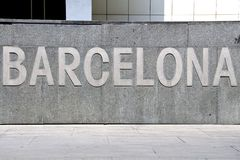Barcelona Logo Stock Photo