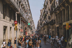 Barcelona, los angeles Rambla Zdjęcie Royalty Free
