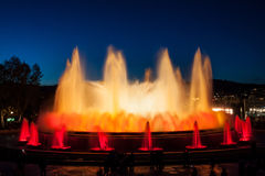 Barcelona Magic Fountain Royalty Free Stock Photography