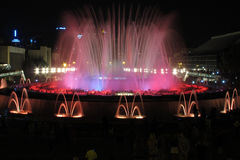 Barcelona, The Magic Fountain Stock Image