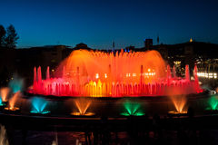 Barcelona Magic Fountain in Night Royalty Free Stock Photos