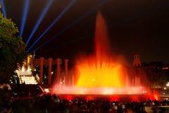 Barcelona magic fountain in Plaza de Espana, Spain Royalty Free Stock Photo