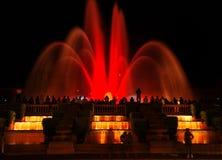 Barcelona magic fountain in Plaza de Espana, Spain Royalty Free Stock Photos