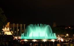 Barcelona magic fountain in Plaza de Espana, Spain Stock Image
