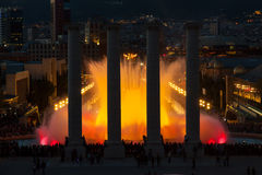 Barcelona Magic Fountain Square Stock Photos