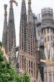 BARCELONA - MAJ 12, 2018: Yttersida av Sagrada Familia Denna är t Royaltyfri Foto