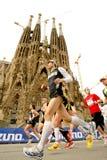 Barcelona Marathon Stock Images