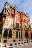Antoni Gaudi`s designed Vicens House. BARCELONA - MARCH, 2018: Antoni Gaudi`s designed Vicens House in Barcelona, Spain Stock Photos
