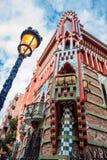 Antoni Gaudi`s designed Vicens House stock images