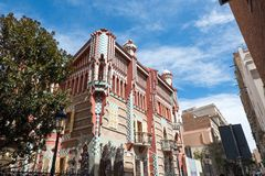 Casa Vicens is a house in Barcelona, designed by Antoni Gaudí royalty free stock image