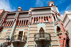 Casa Vicens is a house in Barcelona, designed by Antoni Gaudí. BARCELONA - MARCH 31, 2018: Casa Vicens is a house in Barcelona, designed by Antoni Gaudí royalty free stock photography