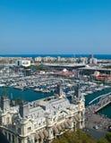 Barcelona marina. And port view, Spain Royalty Free Stock Photography
