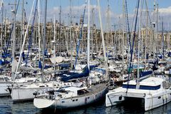 Barcelona Marina. Yacht Harbour in Barcelona, Spain Stock Photography