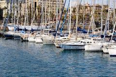 Barcelona Marina. Yacht Harbour in Barcelona, Spain Stock Photo