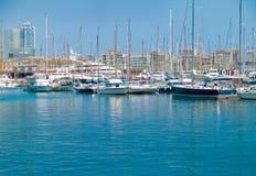 Barcelona Marina. Luxury yachts in the Barcelona marina Royalty Free Stock Images