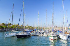 Barcelona marina Royalty Free Stock Photos