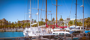 Barcelona marina Royalty Free Stock Photo