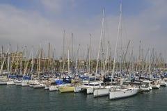 Barcelona marina port stock photos