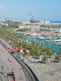 Barcelona marina promenade Stock Images