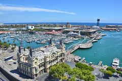 Barcelona marina view Royalty Free Stock Images