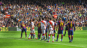 Barcelona during the match Stock Photography