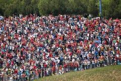 BARCELONA - MAY 9: Big quantity of spectators expe Royalty Free Stock Image