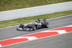 BARCELONA- MAY 9: Nico Rosberg  of  Mercedes GP Stock Photography