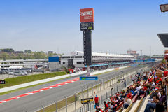 BARCELONA- MAY 9:Racing line before beginning of s Stock Photos