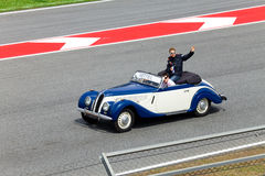 BARCELONA- MAY 9: Sebastian Vettel of RBR-Renault Stock Images
