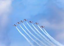 BARCELONA- MAY 9: Air show  during The Formula 1 G Royalty Free Stock Image