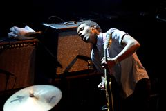 Benjamin Booker rock band in concert at Primavera Sound 2015 Festival. BARCELONA - MAY 27: Benjamin Booker rock band in concert at Primavera Sound 2015 Festival Stock Photography